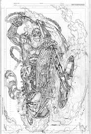 ghost rider commission by kevin sharpe on deviantart