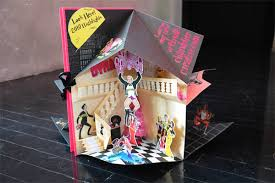 fpo chandelier creative pop up card