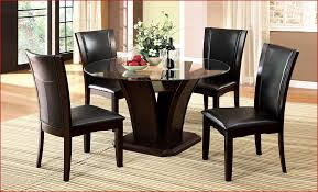Glass Dining Table 4 Chairs Elmdon Black Circular Dining Table And 4 Black Chairs Expired