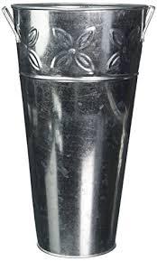 Galvanised Vases Hosley U0027s Set Of 3 Galvanized Vases 12