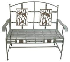 Steel Garden Bench Birds On Branches Garden Bench Industrial Outdoor Benches By