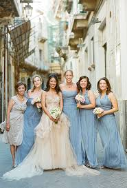 amsale bridesmaid a italian destination wedding in sicily blue floor