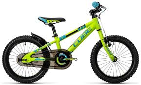 peugeot mountain bike cube kid 160 green n blue 2016