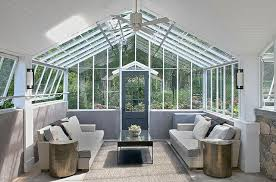 modern sunroom with vaulted glass ceiling modern deck patio