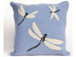 Dragonfly Outdoor Rug Trans Ocean Rugs Frontporch Dragonfly Blue Indoor Outdoor Pillow