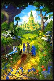 Wizard Of Oz Shower Curtain Emerald City Mural