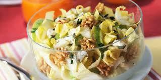 cuisiner endive salade d endives pommes noix et roquefort facile et pas cher