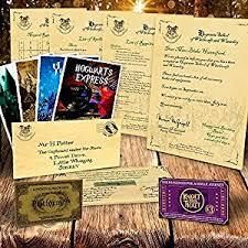 personalised hogwarts acceptance letter harry potter amazon co uk