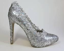 wedding shoes glitter glitter wedding shoe etsy