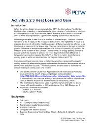 Converting Celsius To Fahrenheit Worksheets Activity 2 2 3 Heat Loss And Gain