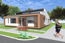 small modern bungalow house design square meters sq plan striking