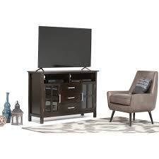 simpli home kitchener tall tv media stand walmart com