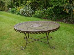 Garden Coffee Table Metal Rustic Garden Coffee Table