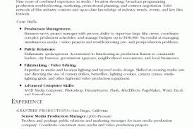 Video Production Resume Samples by Production Resume Examples Production Assistant Resumes Radio