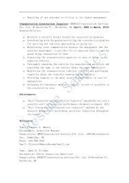Inspector Resume Sample by Resume Samples Transportation Construction Inspector Resume