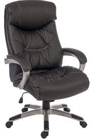 Leather Office Chair Biggar Large Black Leather Office Chair
