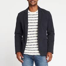 casual blazer navy built in flex blazer for rank style