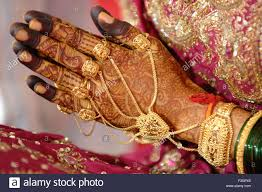 heena ornaments on of in indian hindu wedding