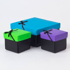 gift wrap boxes blue purple green gift boxes set of 3 only 99p