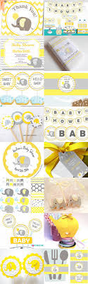 yellow baby shower ideas 15 amazing yellow and grey elephant chevron baby shower ideas