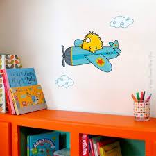 chambre garcon avion sticker avion piou déco chambre bébé enfant série golo