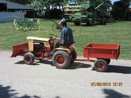 case 155 lawn u0026 garden tractor towing orange wagon j i case