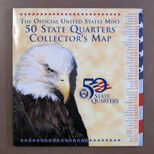 50 State Map State Quarter Map Ebay