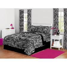 Zebra Bed Set Latitude Zebra Print Complete Bed In A Bag Bedding Set Walmart
