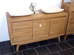 Teak Bathroom Storage Schots Reba Contemporary Bathroom Teak Wood Vanity Inside