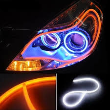 strobe lights for car headlights switchback running light turn signal led strip light automo