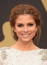 parting hair when braiding a ball maria menounos in arrivals at the 86th annual academy awards