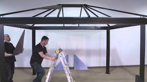 Gazebos With Hard Tops by Sojag Sedona Assembly Youtube