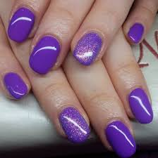 lovely flower purple nail design flower purple black line