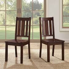 Dining Wood Chairs Better Homes And Gardens Bankston Dining Chairs Set Of 2 Mocha
