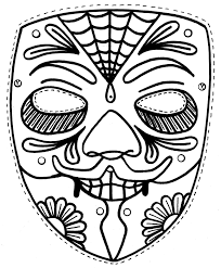 masks coloring pages printable