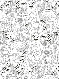 mushrooms coloring page for adults crafting style crafts