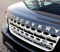 high quality metal 3d discovery letters hood emblem silver chrome