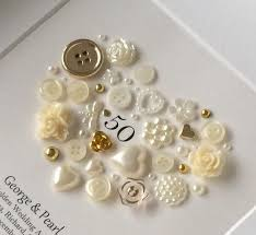 traditional 50th wedding anniversary gifts 50th anniversary gift golden anniversary button