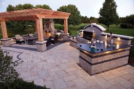 outdoor patio kitchen ideas surprising outdoor backyard ideas 25 paver patio designs