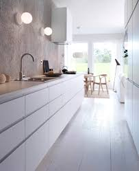 kitchen minimalist white no cabinets kitchens pinterest