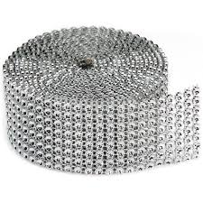 bling ribbon bling on a roll 3mmx2yd 8 rows silver joann