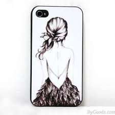 hand drawn sketch print iphone case for iphone 4 4s 5