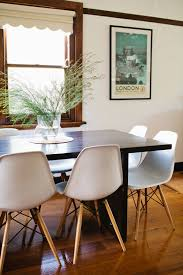 black table white chairs dark wood dining table at home and interior design ideas