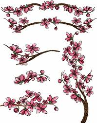 cherry blossom machine embroidery