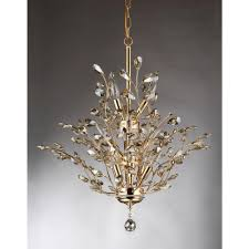 shade crystal chandelier gisell 13 light gold indoor leaf like crystal chandelier with
