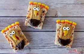 turkey treats rice krispie treat turkeys easy thanksgiving snack