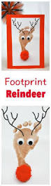 reindeer footprint christmas cards all you need is a shiny nose