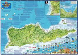 Map Of St Croix U S Virgin Islands Dive U0026 Adventure Guide Usvi Dive Map Franko