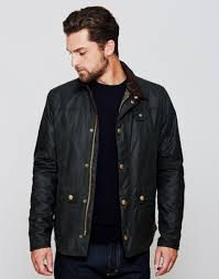 barbour reelin wax jacket green at the idle man