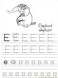 free printable coloring page alphabet abc letter e elephant